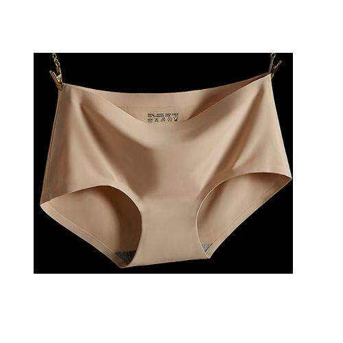 (Pre Order ETA 14/2) JYS Fashion : Ice Silk Panties (Set of 4 Pieces) 20987 - Beige