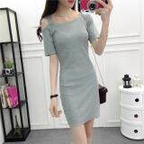 (Pre Order14 Days JYSFashion:Korea Style Off Shoulder Top and MidiDress Collection583460-White