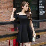 (Pre Order14 Days JYSFashion:Korea Style Off Shoulder Top and MidiDress Collection589145-Black