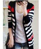 JYS Fashion: Korean Style Black and Blue Stripe Cardigan (Free Size)