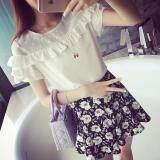 (Pre Order ETA 14/2) JYS Fashion : Korean Style Chiffon Shirt Top - White - 4542 Ready Stock 4542 white-Free Size