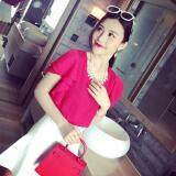 (Pre Order ETA 14/2) JYS Fashion: Korean Style Lace, Chiffon, Off Shoulder Top Collection 89  1189-Rose Red