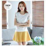(Pre Order ETA 14/2) JYS Fashion: Korean Style Lace, Chiffon, Off Shoulder Top Collection 89  182-White