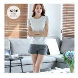 (Pre Order ETA 14/2) JYS Fashion: Korean Style Lace, Chiffon, Off Shoulder Top Collection 89  183-White