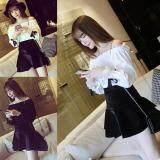(Pre Order ETA 14/2) JYS Fashion: Korean Style Lace, Chiffon, Off Shoulder Top Collection 89  2986-Black