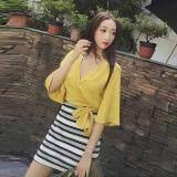 (Pre Order ETA 14/2) JYS Fashion: Korean Style Lace, Chiffon, Off Shoulder Top Collection 89  3029-Yellow