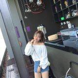 (Pre Order ETA 14/2) JYS Fashion: Korean Style Lace, Chiffon, Off Shoulder Top Collection 89  7483-Red
