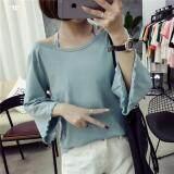 (Pre Order ETA 14/2) JYS Fashion: Korean Style Lace, Chiffon, Off Shoulder Top Collection 89  8698-Blue