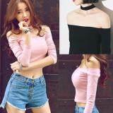 (Pre Order ETA 14/2) JYS Fashion: Korean Style Lace, Chiffon, Off Shoulder Top Collection 89  9825-Pink
