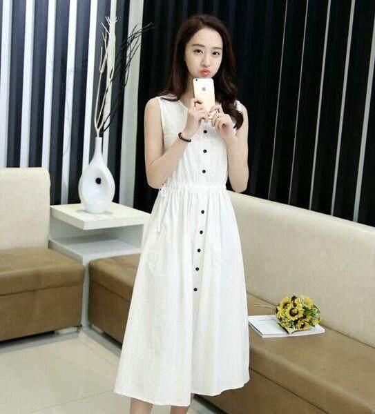 (Pre Order ETA 14/2) JYS Fashion: Korean Style Midi Dress - Collection 97 7653-White
