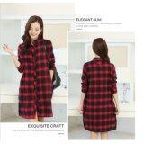 (PreOrder14 Days JYSFashion: Korean Style Shirt Dress (RedInt:4XL
