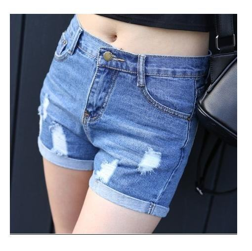 (Pre Order ETA 14/2) JYS Fashion: Korean Ulzzang Style Denim Short Pants Collection 83 5657-Light Blue