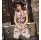 JYS Fashion: Premium Lace Organza Midi Dress Collection 10  300-Romantic Butterfly Pattern