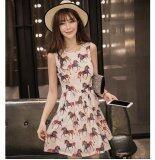 JYS Fashion: Premium Lace Organza Midi Dress Collection 10  292-Small Horse Pattern