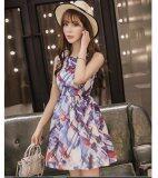 JYS Fashion: Premium Lace Organza Midi Dress Collection 10  306-Blue