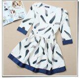 JYS Fashion: Premium Lace Organza Midi Dress Collection 10  249-Feather Pattern