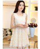 JYS Fashion: Premium Lace Organza Midi Dress Collection 10  H253-Apricot