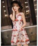 JYS Fashion: Premium Lace Organza Midi Dress Collection 10  301-Floral Printed Lady