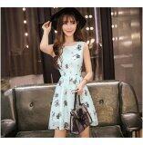 JYS Fashion: Premium Lace Organza Midi Dress Collection 10  311-Blue Swan Pattern
