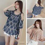 (Pre Order ETA 14/2) JYS Fashion:Korean Style (Chiffon, Lace, Off Shoulder) Top Collection 96  8984-Blue