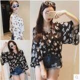 (Pre Order ETA 14/2) JYS Fashion:Korean Style (Chiffon, Lace, Off Shoulder) Top Collection 96  9660-White