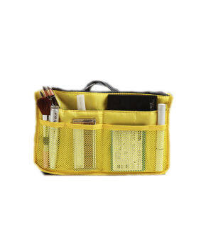 Harga Korean Fashion Lightweight and Water-Resistant Multi-CompartmentBAG IN BAG Organizer Yellow