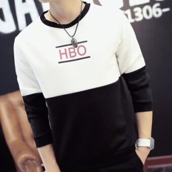 Men's Korean-style fitting jacket sun-proof (HBO white hoodie) (HBO white hoodie)