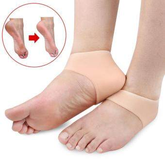 Harga Kuhong 2Pcs/Pair Silicone Foot Care Moisturizing Gel Heel SocksCracked Foot Skin Care Protector Feet Care For Men/Women(Nude)