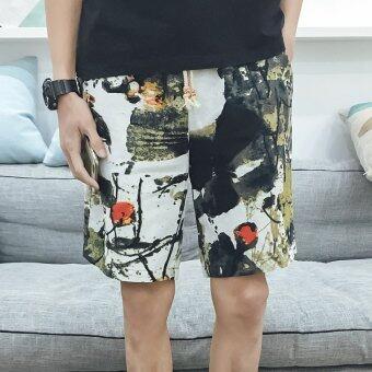Loose-fit men's light l Short cropped pants (21 No. Color) (