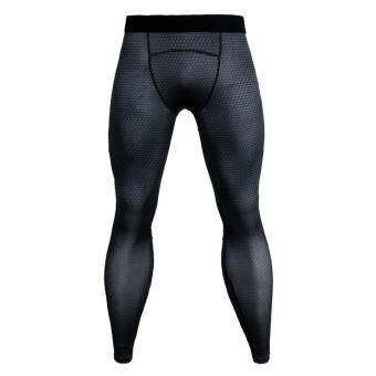 MagiDeal Men Black Long Tights Sports Leggings Fitness Compression Running Pants S ...