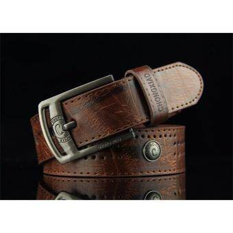 Men's Cow leather belt With Alloy buckle