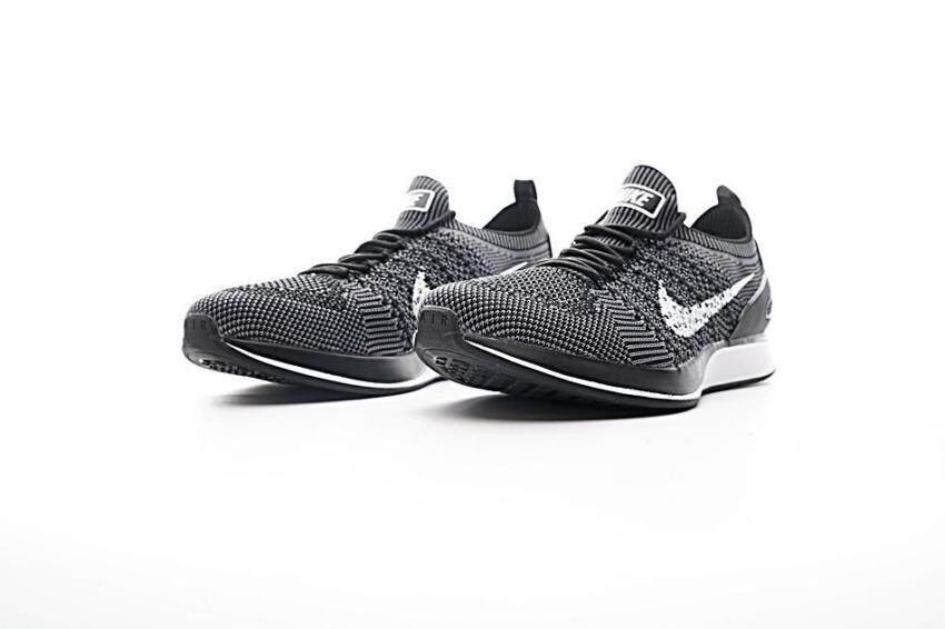 ... Men s Nike Air Zoom Mariah Flyknit Racer Running Shoes (Grey White) - 5 a192fbaf1f