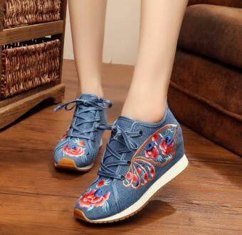 National Style flat high-heeled women's travel shoes women's shoes ( Butterfly wings .