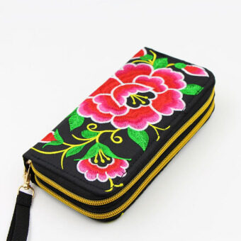Harga National Style New style embroidered wallet bag (Red Morning Glory morning glory) (Red Morning Glory morning glory)