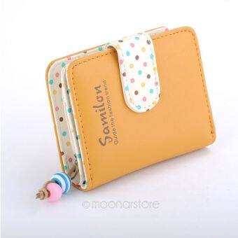 New colorful lady Candy Color lovely purse clutch women wallets short small bag PU leather card