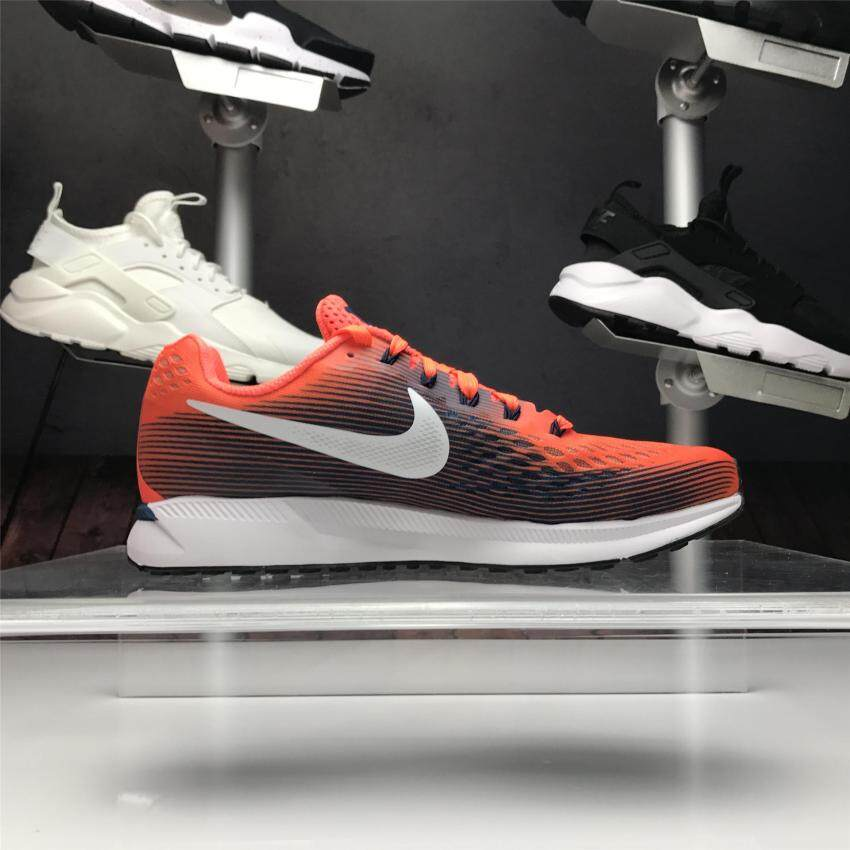 490521a08080e Nike Air Zoom Pegasus 34 Hyper Orange Black Men Running Shoes Trainer  880555-800