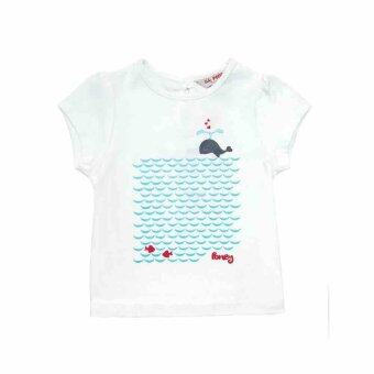 Harga PONEY LITTLE DOLPHIN GRAPHIC PRINT TEE (WHITE)