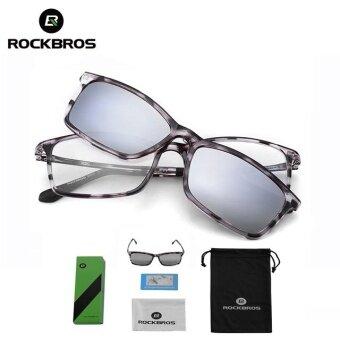 ROCKBROS Bicycle Dual Use Sunglasses UV400 Double Lens Polarized Lens Cycling Bike Bicycle Eyewear(Silver