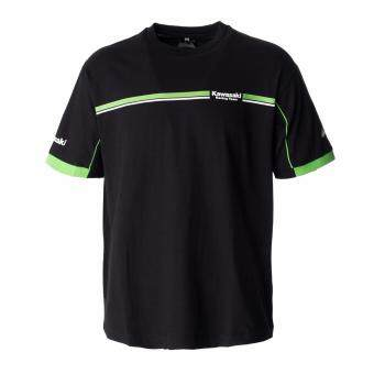 Harga Roundneck Tee Kawasaki Racing Team Basic T-Shirt BLACK 2017/2018(Kawasaki Original Apparel)