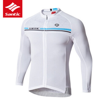 Sancit forest land off 17 years New style spring and summer long-sleeved Jersey bike breathable sun protection Top men Karen (White)