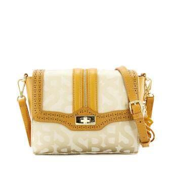 Cek Harga Sembonia Jacquard Trimmed Leather Monogram Clutch Bag ... cd2bd9544f726