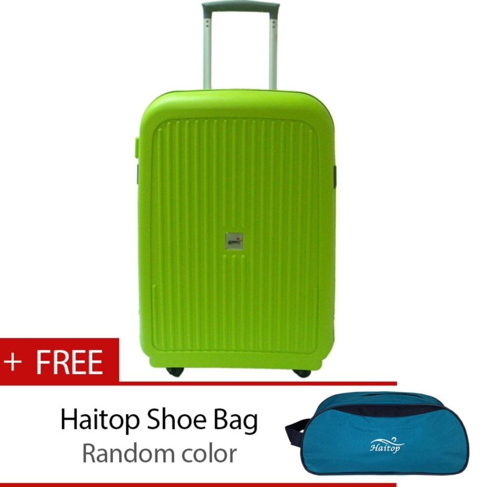 Summit MA1304  PP Hard Case Trolley with Clipper 22 inch Green
