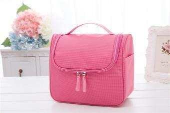 Travel Makeup Cosmetic Toiletry Case Bag Wash Organizer Portable Luggage Storage Bag (Pink)