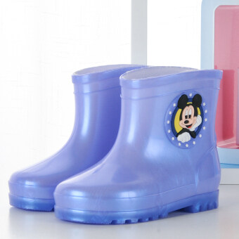 ULTRAGROW cute discount quality soft rain boots (Light purple)