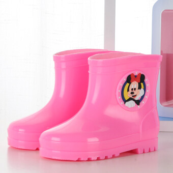 ULTRAGROW cute discount quality soft rain boots (Pink)
