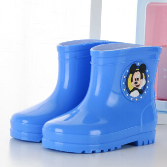 ULTRAGROW cute discount quality soft rain boots (Sky Blue)