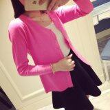 V Neck Long Sleeves Knit Cardigan