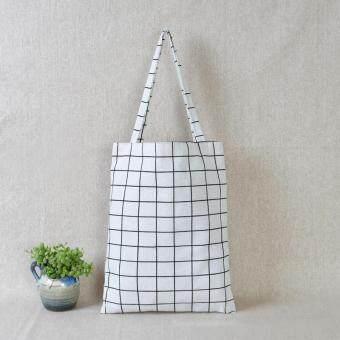 Women Tote Handbag Linen Casual Shopping Shoulder Bag