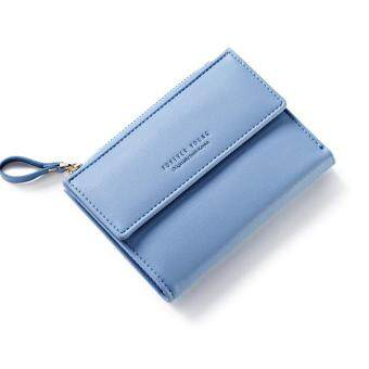 Women Wallet Pu Leather Mini Coin Purses Small Zipper Short Wallets ID Credit Card Holders Fashion