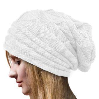 0df822f0f07 How To Buy Unisex Women Men Knit Winter Warm Ski Crochet Slouch Hat Cap  Beanie Oversized Beanie Hat Gray Intl Malaysia June 2018